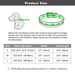 size chart for dog leather collar