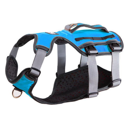 Reflective bully harness in 7 colors blue color