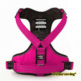 Reflective bully harness in 7 colors pink