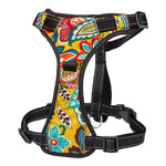 No Pull colorful and reflective dog harness yellow