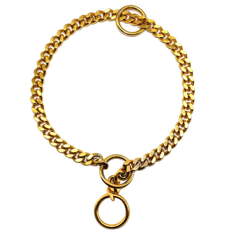 mastiff-choke-chain-collar-gold
