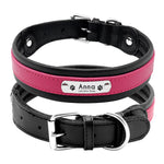 pink dog leather collar