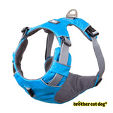 Reflective bully harness in 7 colors light blue