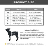 No Pull colorful and reflective dog harness size chart
