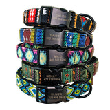 colorful nylon dog collars