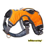 Reflective bully harness in 7 colors dark orange