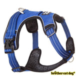 Reflective bully harness in 7 colors blue