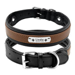 brown personalized dog leather collar