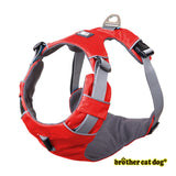Reflective bully harness in 7 colors red color