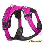 Reflective American bully harness in 7 colors pink