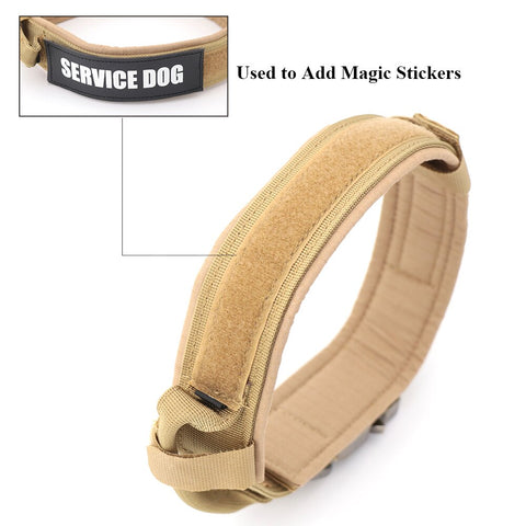 tactical mastiff dog collar with a place for patches