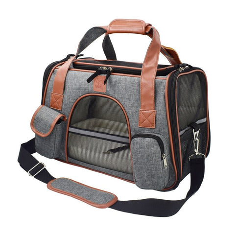 puppy travel transporter dark grey