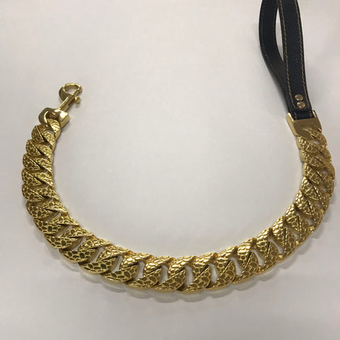 bully-snake-skin-leash-gold