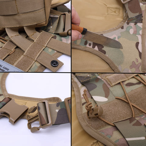strong tactical dog harness