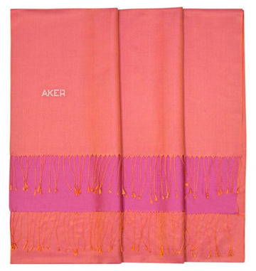 Coral-Violet Red Bi-Color Silk Shawl