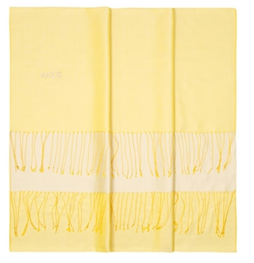 Banana Mania-Astra Yellow Bi-Color Silk Shawl