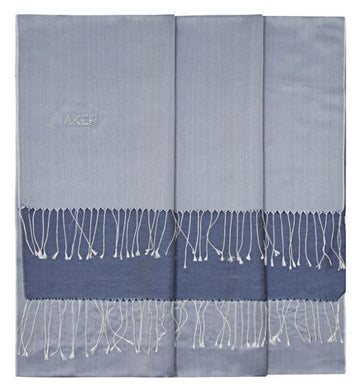 Mischka-Chambray Bi-Color Silk Shawl