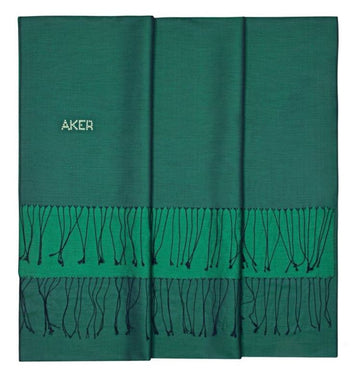 Eden-Deep Sea Green Bi-Color Silk Shawl