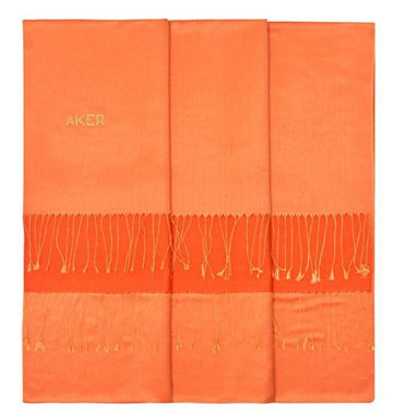 Silk Shawl - Outrageous-Crusta Orange Bi-Color Silk Shawl