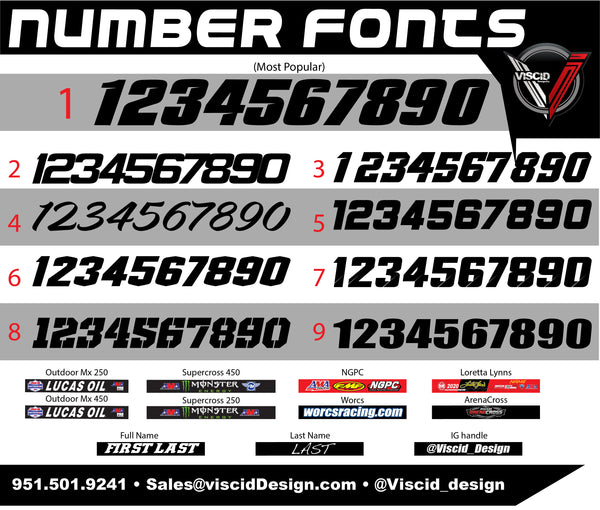 Honda Number plate set - Candy Series