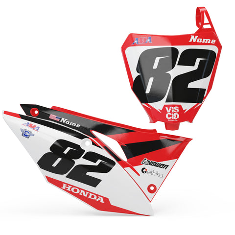Honda Number plate set - Streak Series
