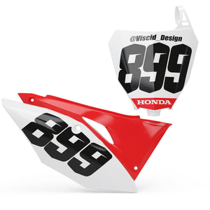 Honda Number plate set - SIMPLE