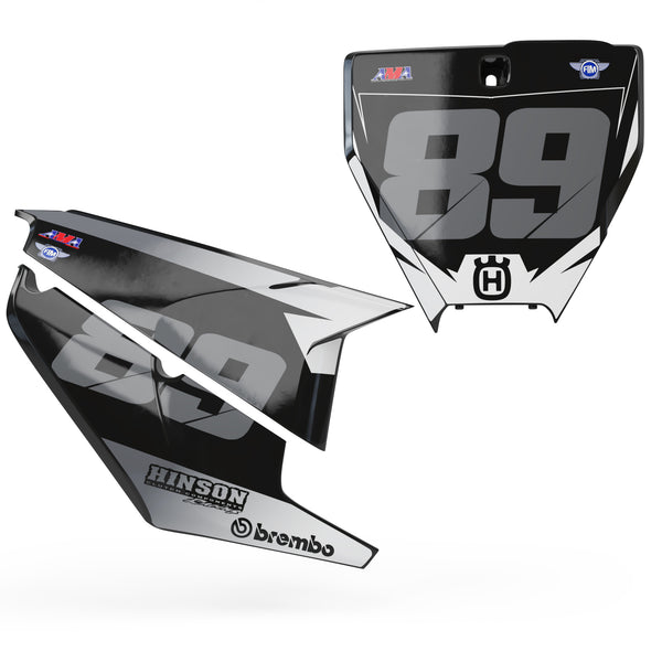 Husqvarna Number plate set -  Smoke Series