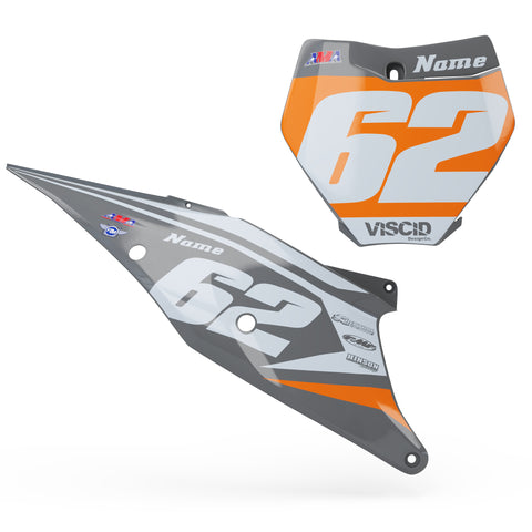 KTM Number plate set -  Glacier Series