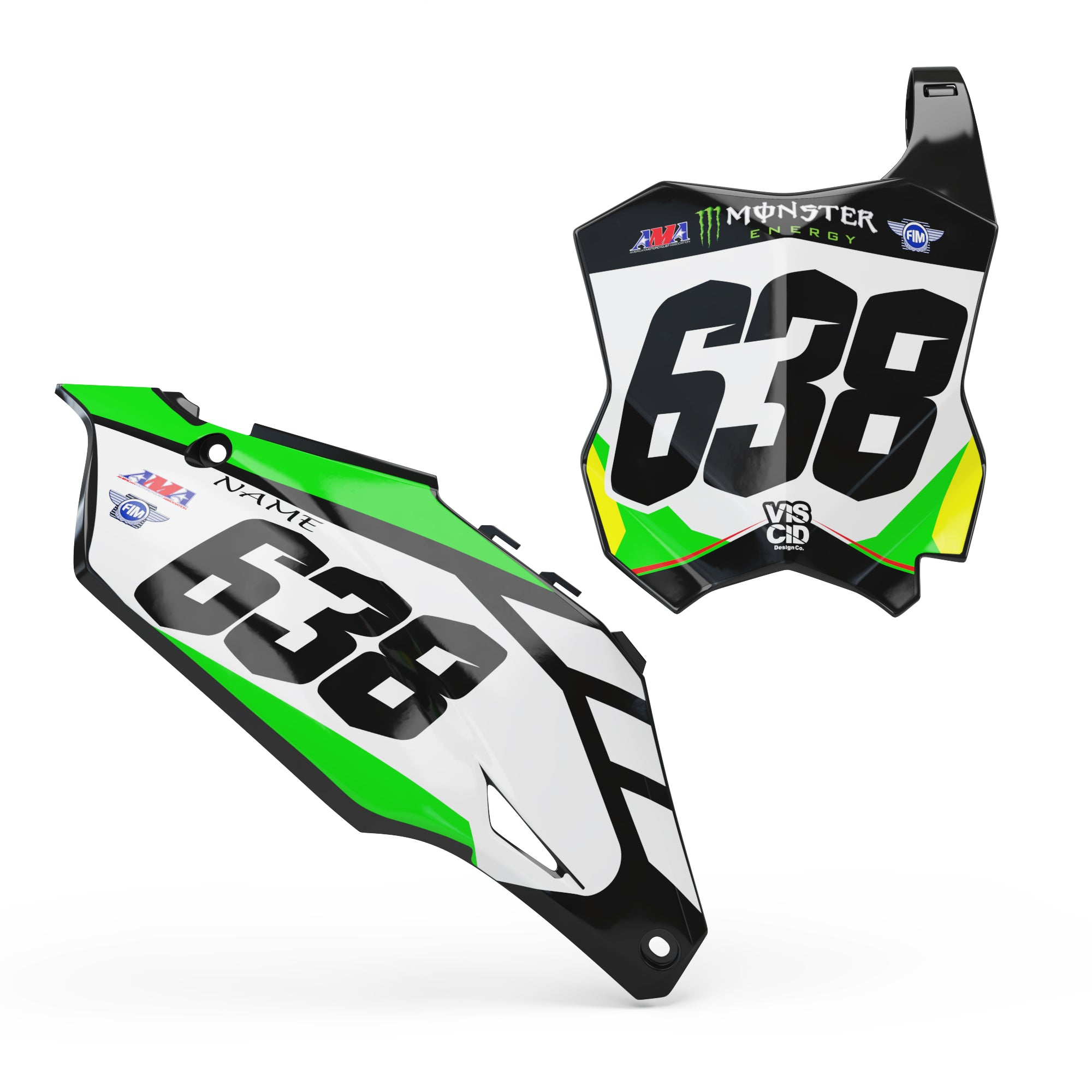 Kawasaki Number plate set -  Spark series