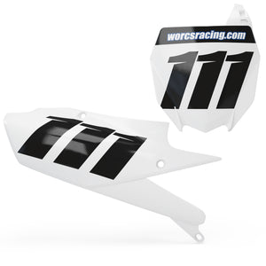 Yamaha Number plate set -  SIMPLE