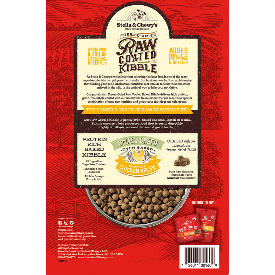Stella & Chewy's Raw Coated Kibble Cage Free Chicken Recipe Small Breed Dry Dog Food