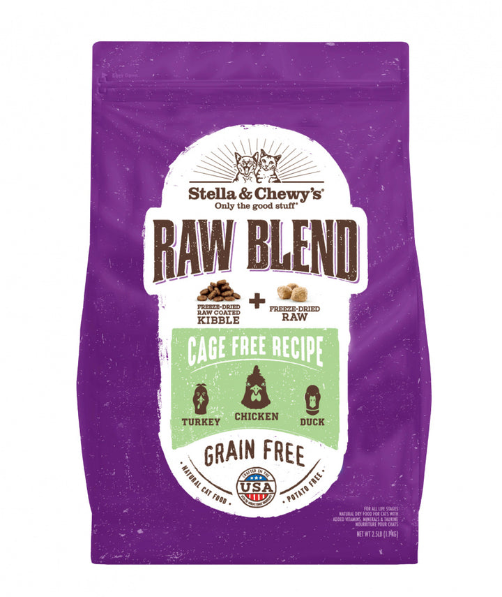 Stella & Chewy's Raw Blend Kibble Cage Free Poultry Recipe Dry Cat Food