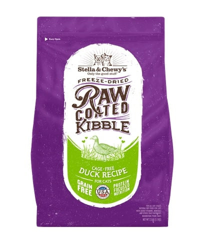 Stella & Chewy's Raw Coated Kibble Cage Free Duck Recipe Dry Cat Food