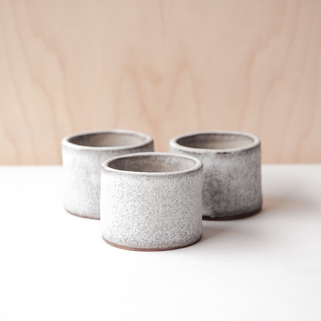 Speckled Stoneware Cups