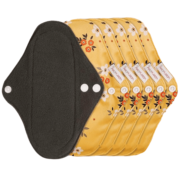 Daily Pad - Orange Floral - Pack of 6