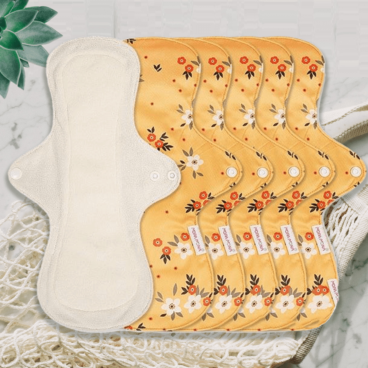 Overnight Pad - Orange Floral - Pack of 5