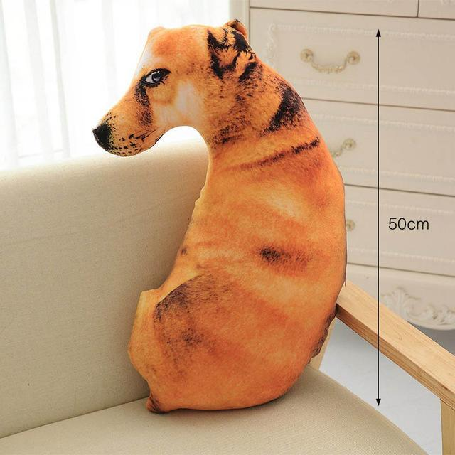 3D Puppy Shape Cushion Throw Pillow With PP Cotton Inner Home Decor Cartoon Sofa Toys Sleeping Pillow Plush Gift For Children