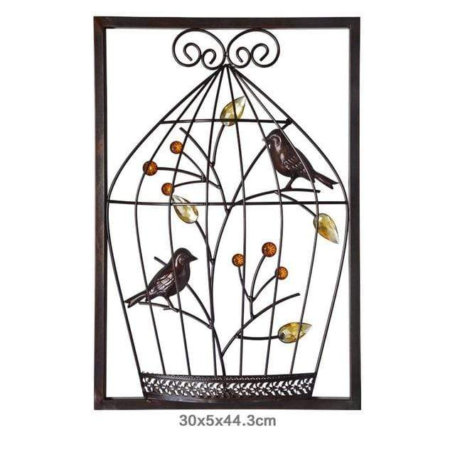 Abstract Chinese Bird Cage Iron Frame - San Diego Art House