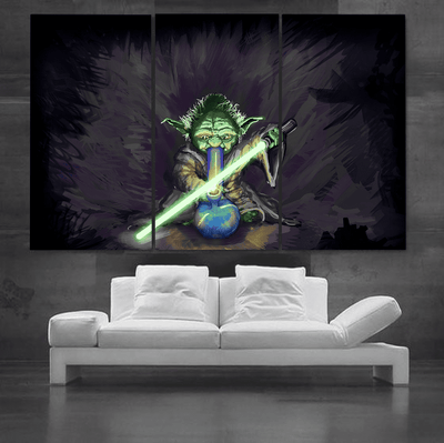 Alien and Bong Canvas Set - san-diego-art-house