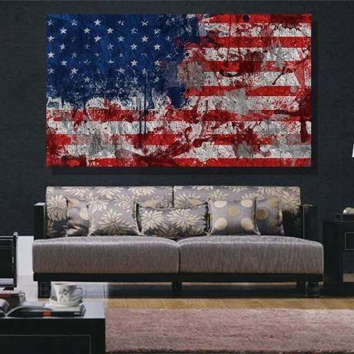 American Flag Canvas Set