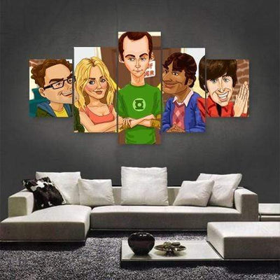Big Bang Theory Comic Canvas Set - San Diego Art House