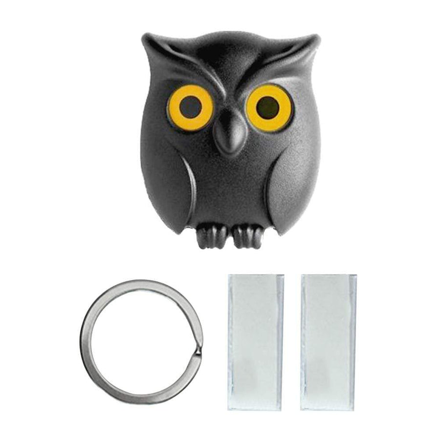 Black Night Owl Magnetic Wall Key Holder - san-diego-art-house