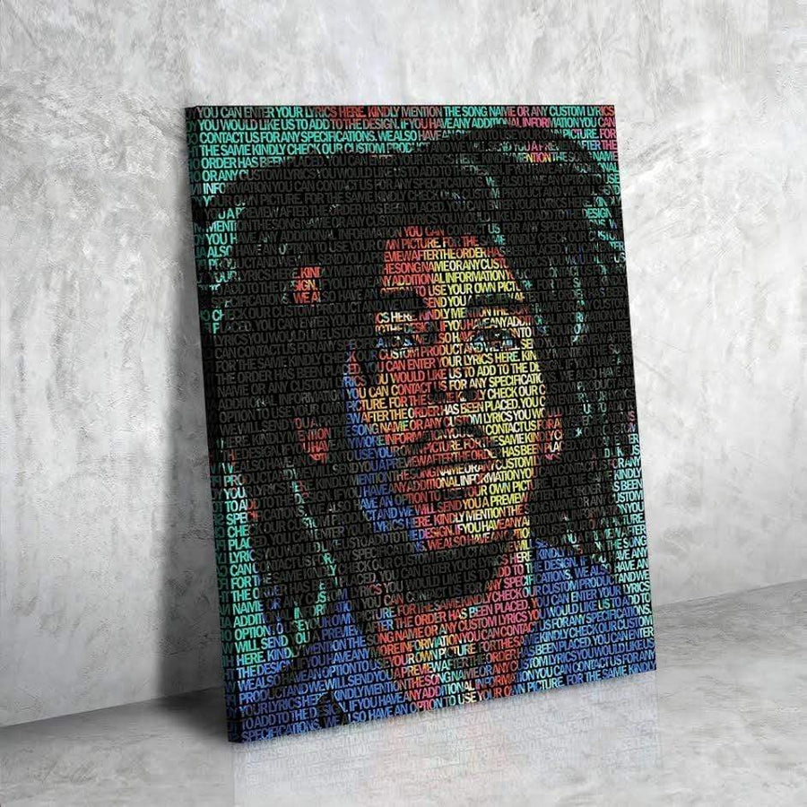 Bob Marley Lyrical Canvas | Song Lyrics Canvas Art | Custom Music Canvas Art | Hip Hop Art - san-diego-art-house
