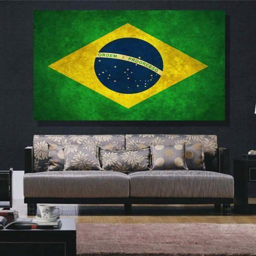 Brazil Flag Canvas Set