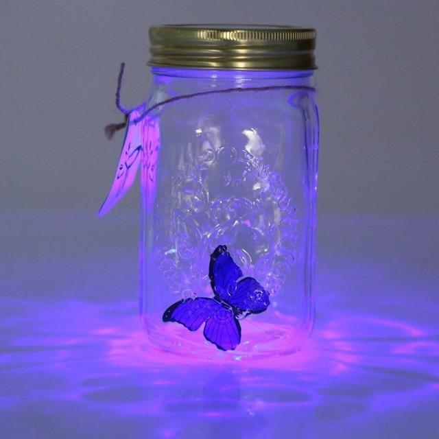 Butterfly Jar with Lamp / Romantic Glass LED Lamp