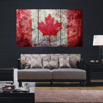 Canada Flag Canvas Set - San Diego Art House