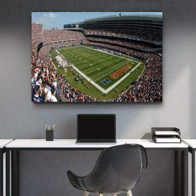 Chicago Bears Stadium Canvas Set - San Diego Art House