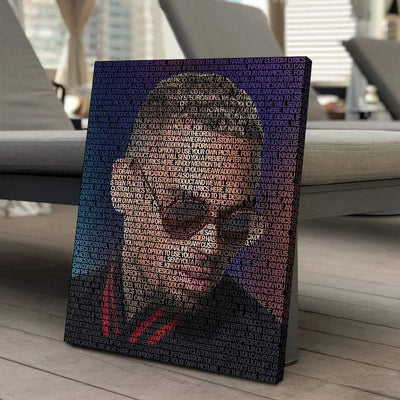 Chris Brown Canvas | Song Lyrics Canvas Art | Custom Music Canvas Art | Hip Hop Art - san-diego-art-house