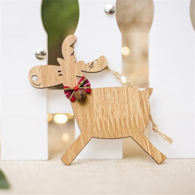 Christmas Deer Wooden Pendants