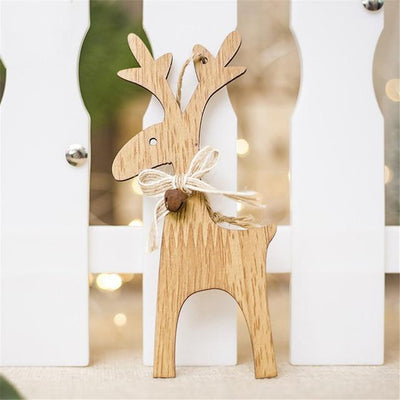 San Diego Art House B Christmas Deer Wooden Pendants